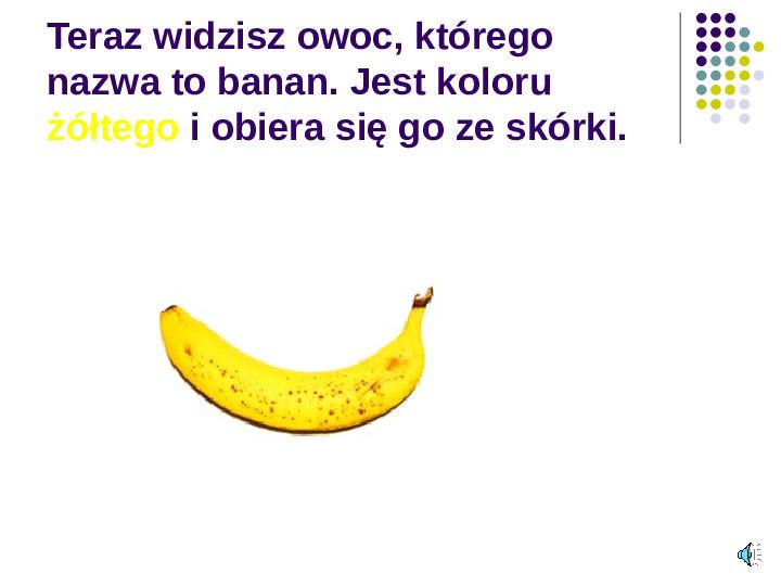 Poznajemy owoce - Slajd 10