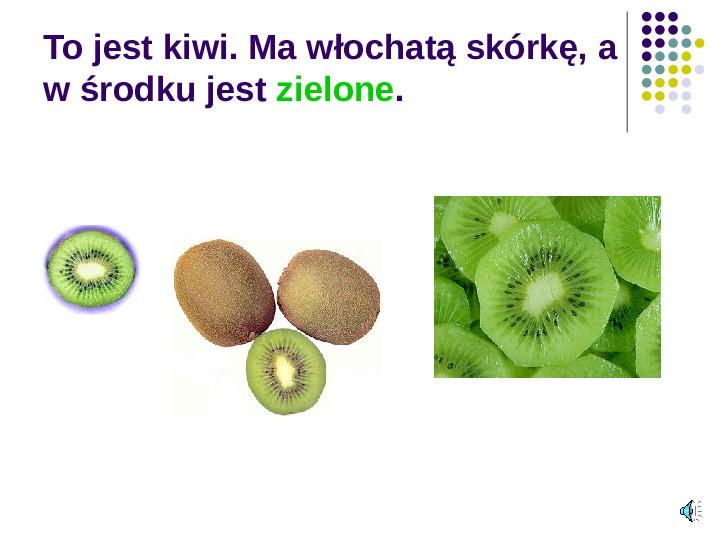 Poznajemy owoce - Slajd 13