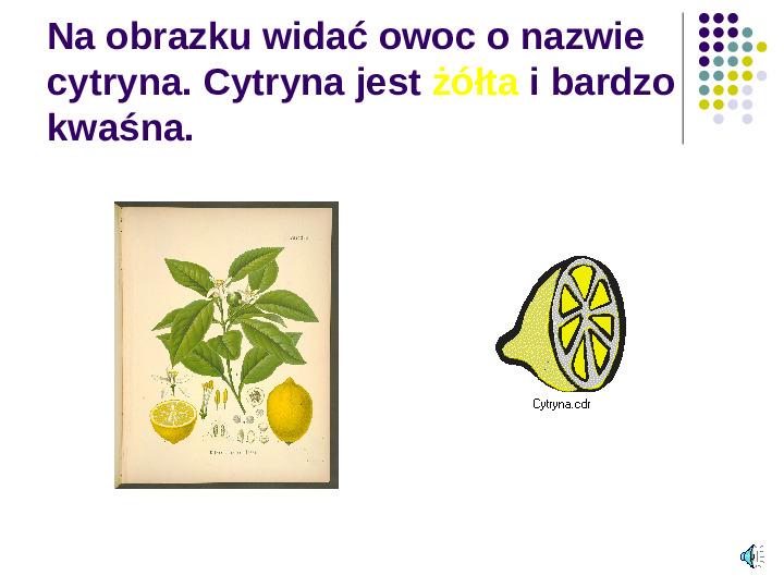 Poznajemy owoce - Slajd 14