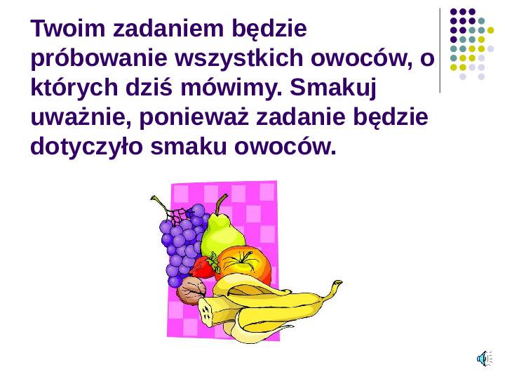 Poznajemy owoce - Slajd 15