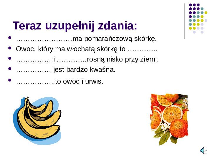 Poznajemy owoce - Slajd 19