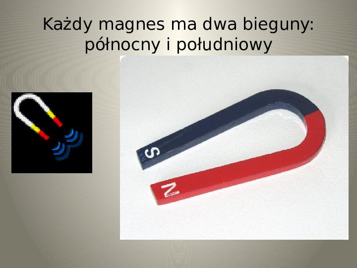 Poznajemy zjawisko magnetyzmu - Slajd 6