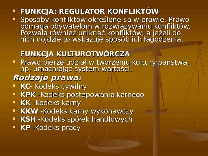 Prawo i jego funkcje - Slajd 15