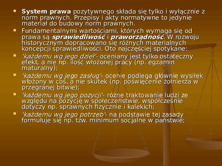Prawo i jego funkcje - Slajd 17