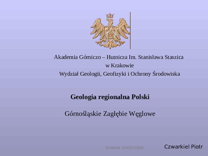 Geologia regionalna Polski - Slajd 1