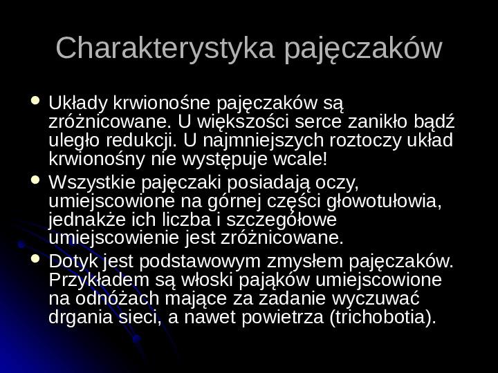 Pajęczaki - Slajd 5
