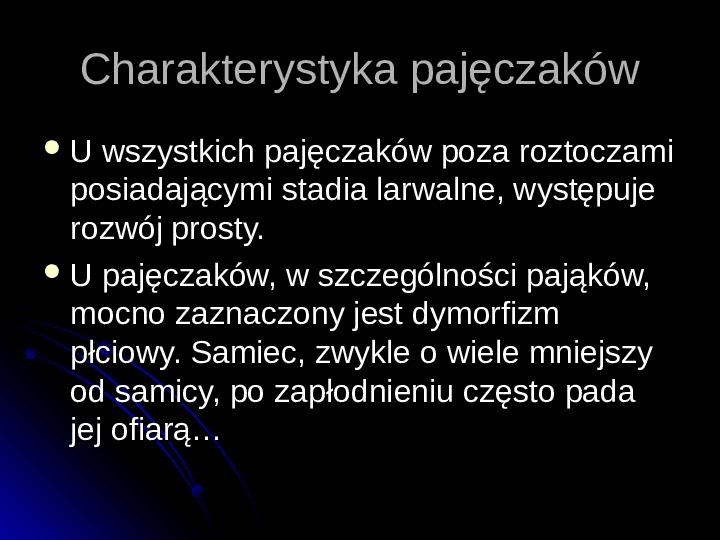 Pajęczaki - Slajd 8