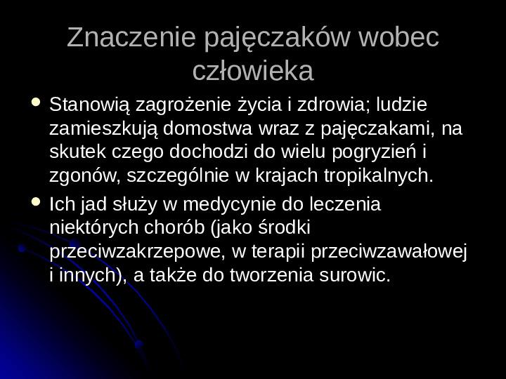 Pajęczaki - Slajd 11