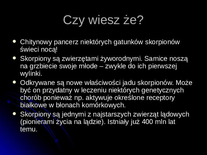 Pajęczaki - Slajd 25