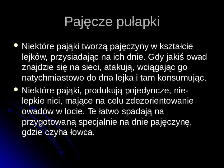 Pajęczaki - Slajd 37