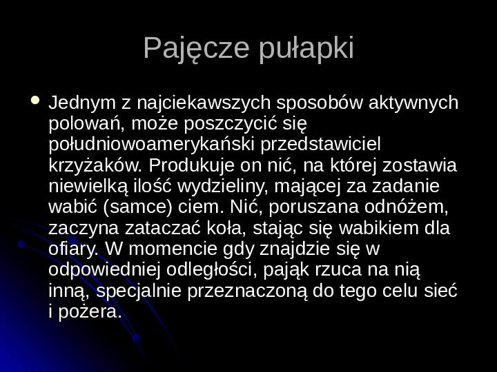 Pajęczaki - Slajd 39
