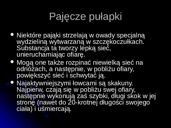 Pajęczaki - Slajd 41