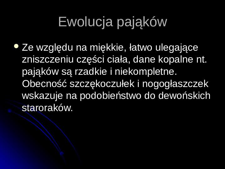 Pajęczaki - Slajd 43