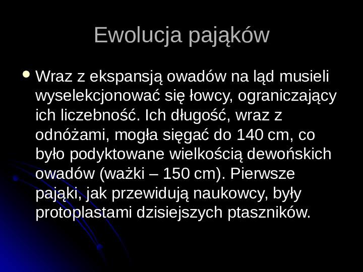Pajęczaki - Slajd 44