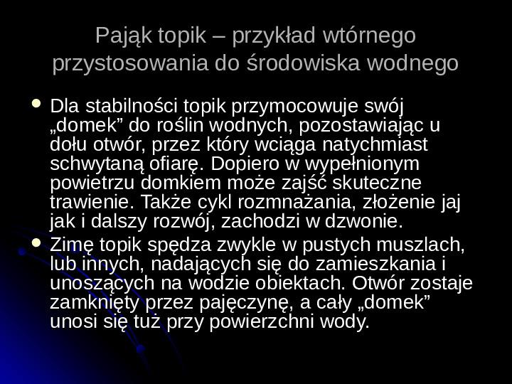 Pajęczaki - Slajd 66