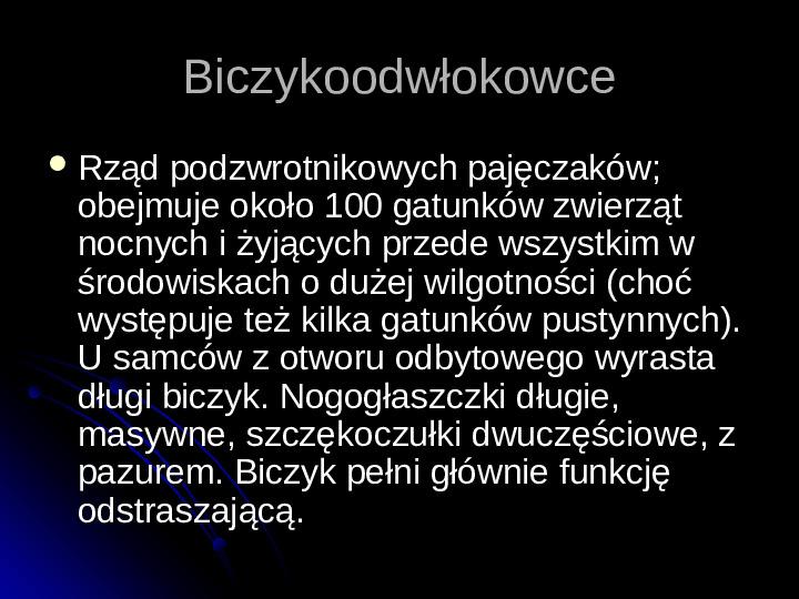 Pajęczaki - Slajd 68