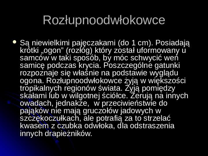 Pajęczaki - Slajd 70
