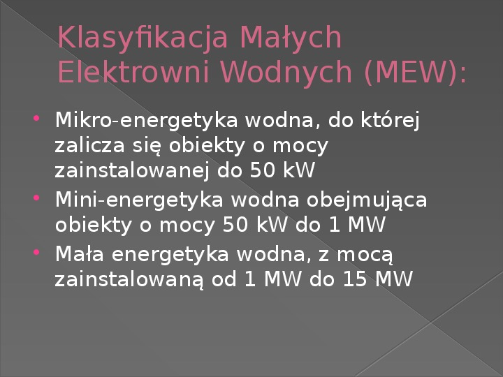 Energetyka wodna - Slajd 6