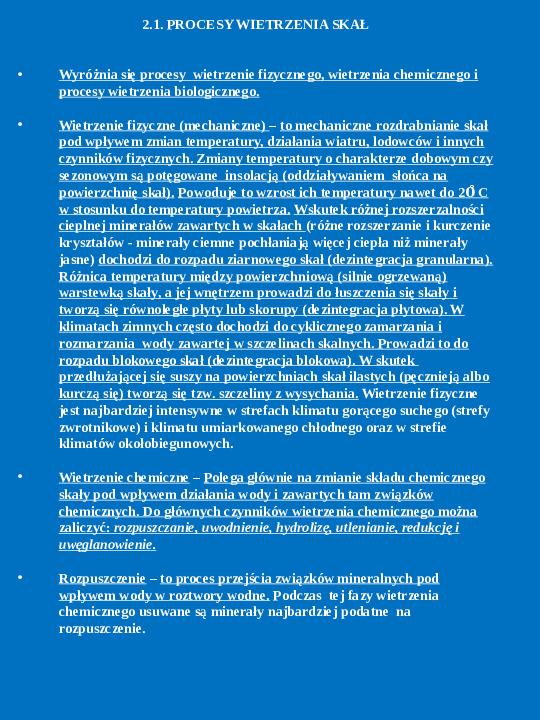 Procesy endogeniczne i egzogeniczne - Slajd 8