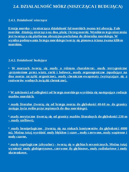 Procesy endogeniczne i egzogeniczne - Slajd 11
