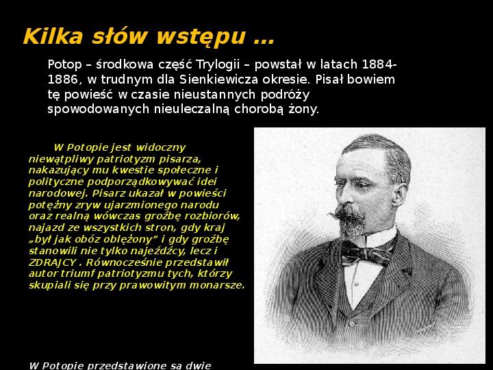 """""""Potop"""" Henryk Sienkiewicz - Slajd 1"""