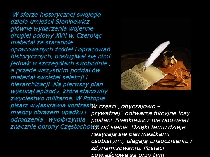 """""""Potop"""" Henryk Sienkiewicz - Slajd 2"""