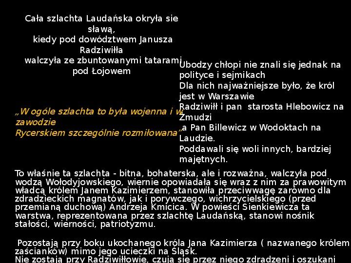 """""""Potop"""" Henryk Sienkiewicz - Slajd 17"""