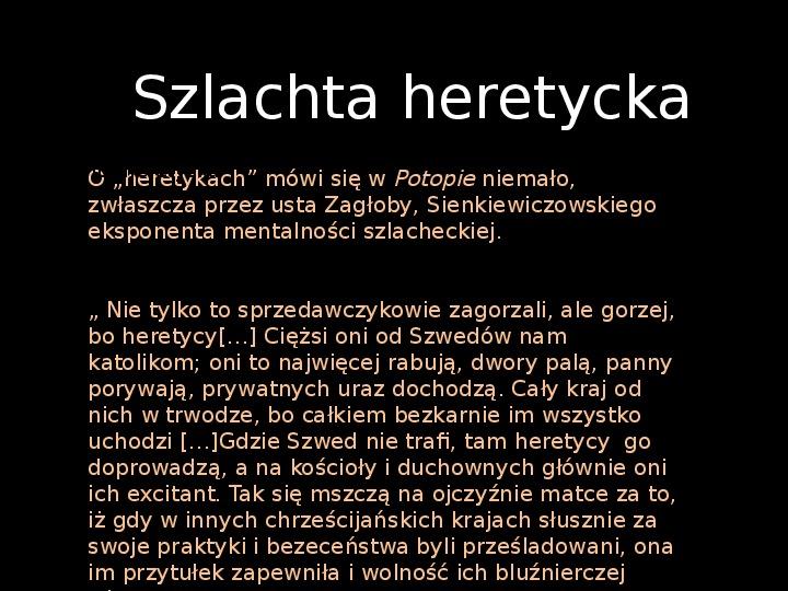"""""""Potop"""" Henryk Sienkiewicz - Slajd 19"""