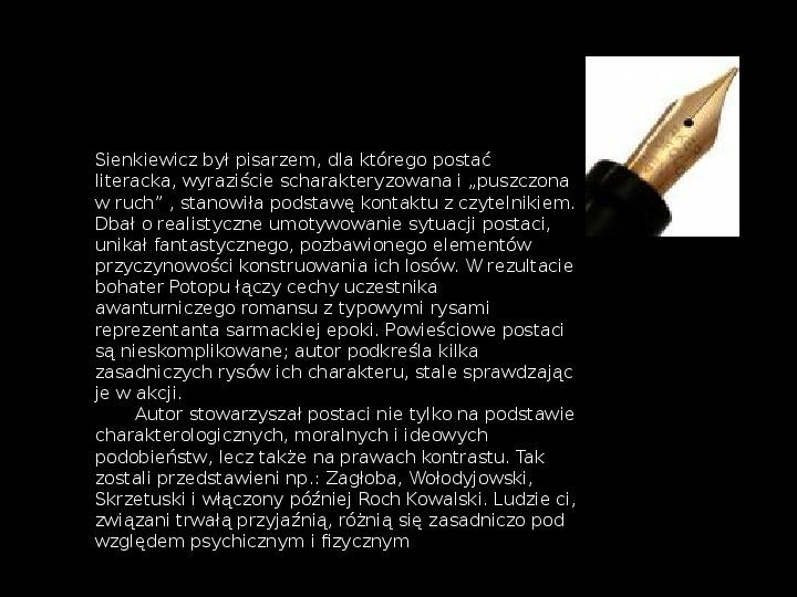 """""""Potop"""" Henryk Sienkiewicz - Slajd 20"""
