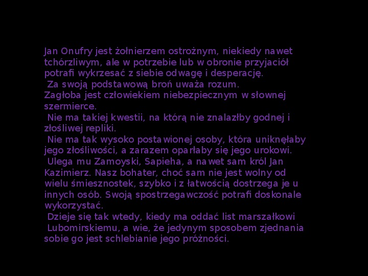 """""""Potop"""" Henryk Sienkiewicz - Slajd 24"""