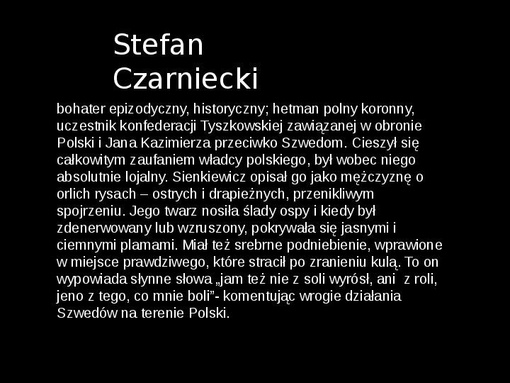 """""""Potop"""" Henryk Sienkiewicz - Slajd 29"""