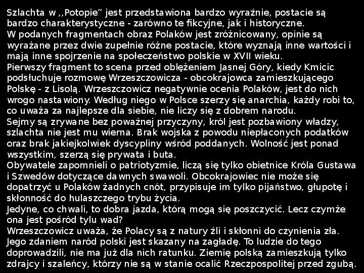"""""""Potop"""" Henryk Sienkiewicz - Slajd 32"""