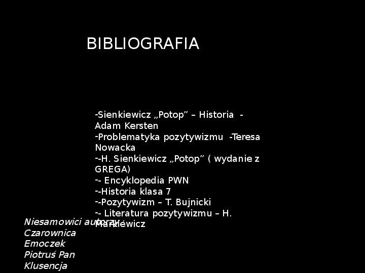 """""""Potop"""" Henryk Sienkiewicz - Slajd 40"""
