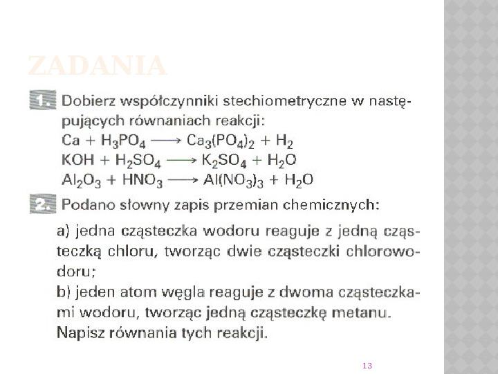 Reakcje Chemiczne - Slajd 12