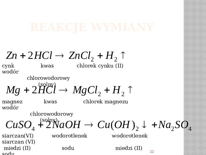 Reakcje Chemiczne - Slajd 21