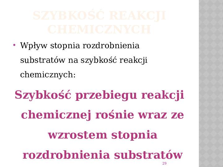 Reakcje Chemiczne - Slajd 28