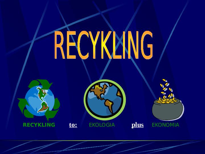 Recykling - Slajd 1