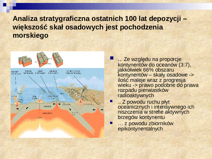 Skały osadowe a tektonika płyt - Slajd 2