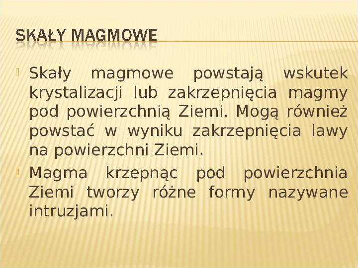 Skały - Slajd 3