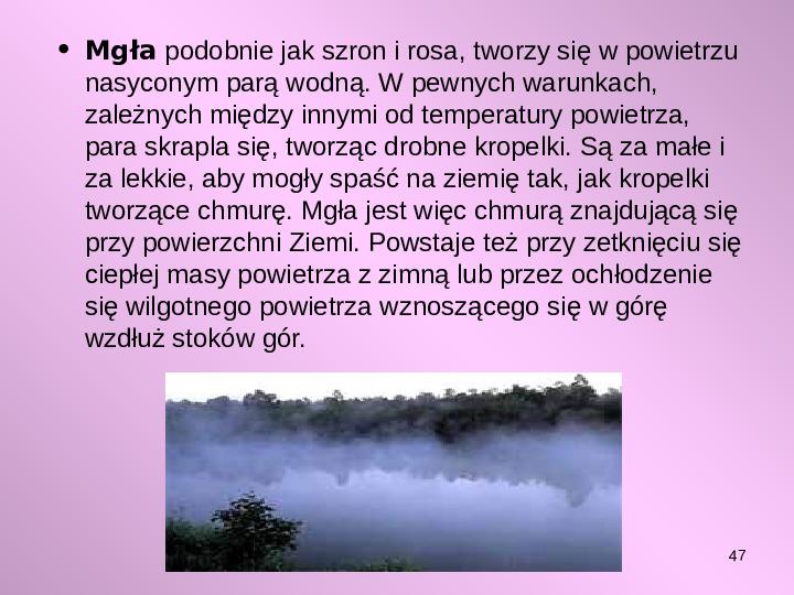 Pogoda i jej składniki - Slajd 46