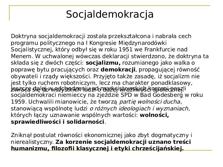 Socjaldemokracja - Slajd 6