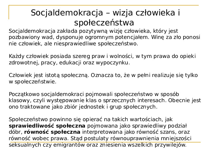 Socjaldemokracja - Slajd 8