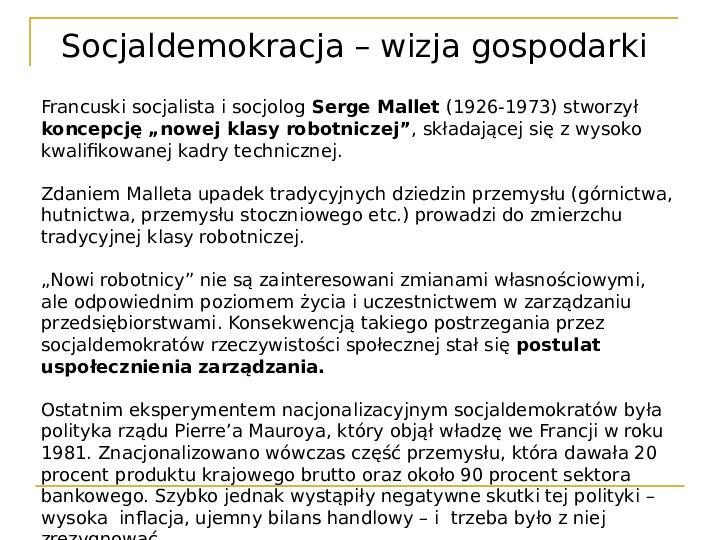 Socjaldemokracja - Slajd 10