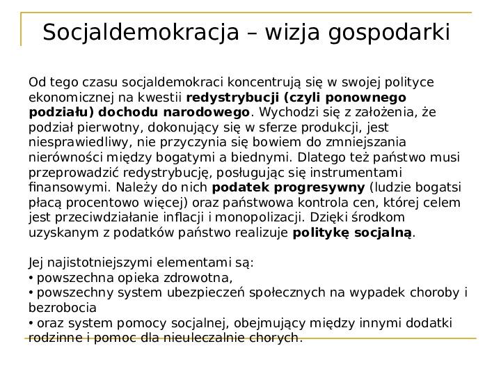 Socjaldemokracja - Slajd 11