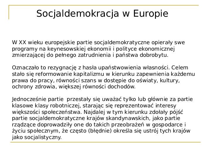 Socjaldemokracja - Slajd 14