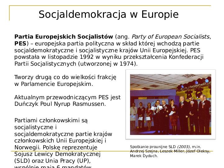 Socjaldemokracja - Slajd 15