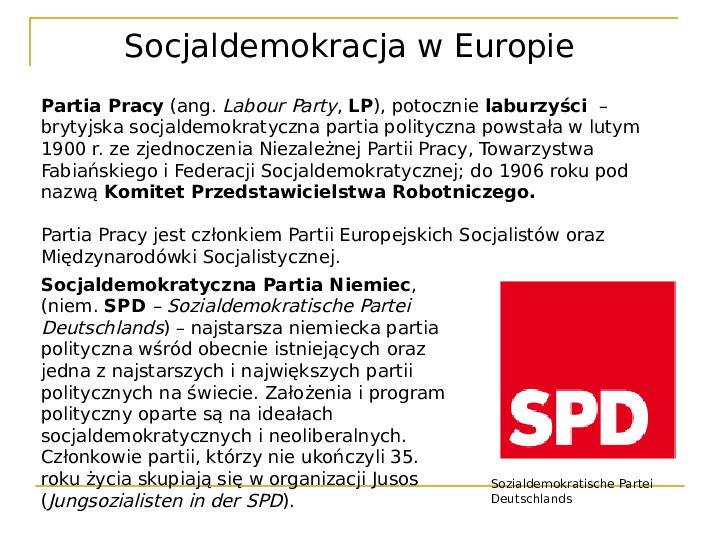 Socjaldemokracja - Slajd 16