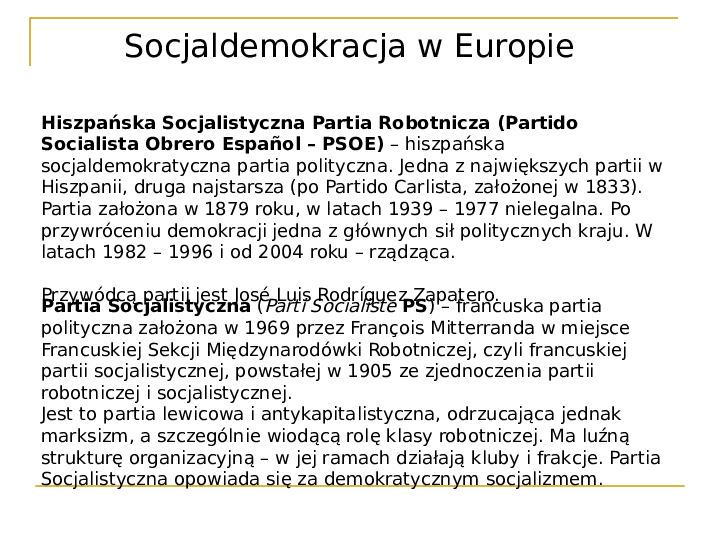 Socjaldemokracja - Slajd 17