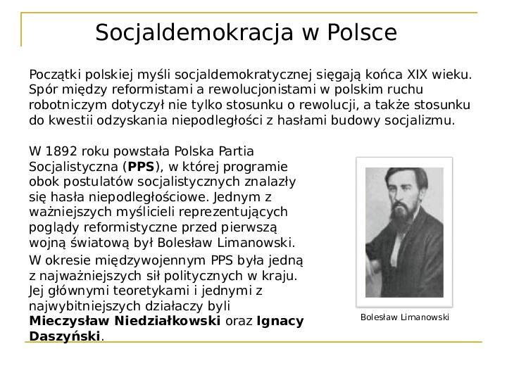 Socjaldemokracja - Slajd 18