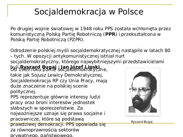 Socjaldemokracja - Slajd 19